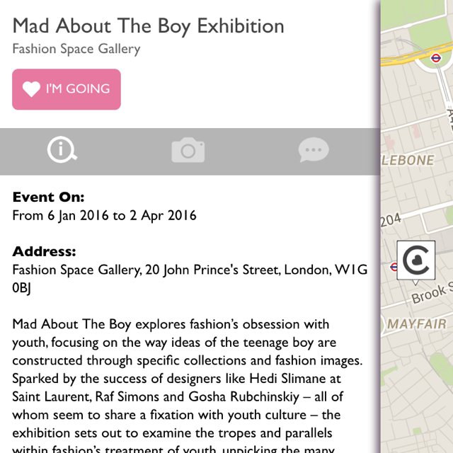 Get information on any fashion-related exhibitions, events or shows in your area.