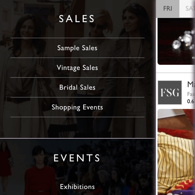 See every fashion event and sale around you right now, where-ever you are in your city.